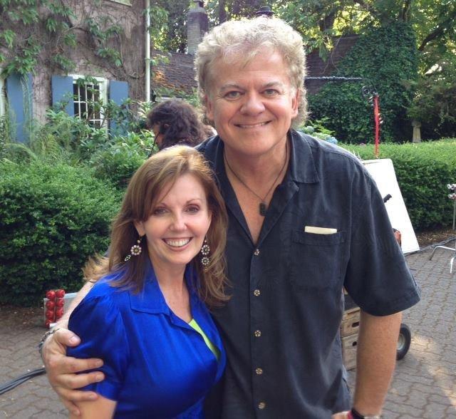 Novelist Ronda Rich on set with director David Winning. Langley, B.C., Canada. August 2013