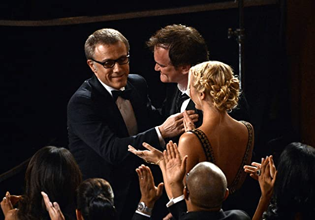 Quentin Tarantino, Christoph Waltz, and Lianne Spiderbaby at an event for The 85th Annual Academy Awards (2013)
