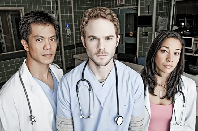 Shawn Ashmore, Byron Mann, and Mayko Nguyen in Bloodletting & Miraculous Cures (2010)