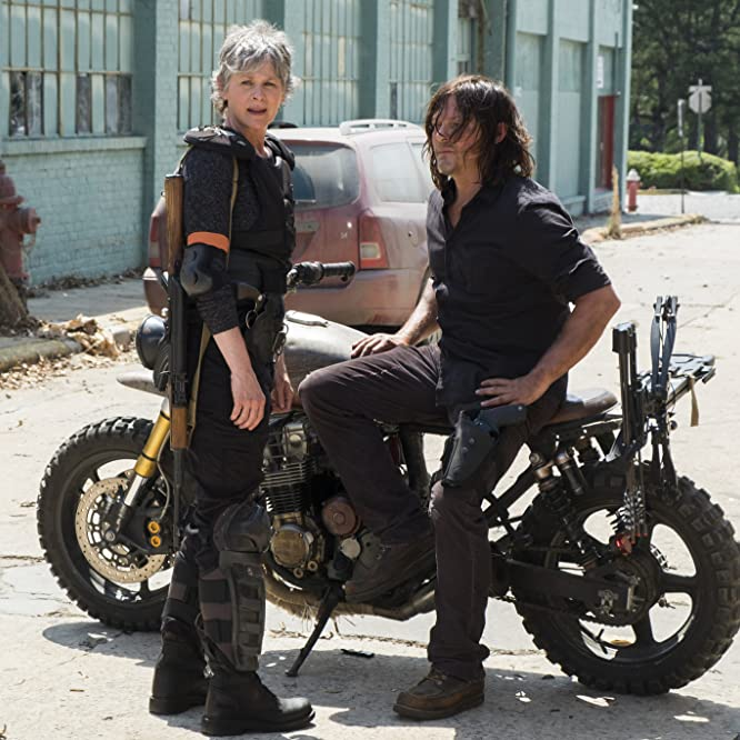 Norman Reedus and Melissa McBride in The Walking Dead (2010)