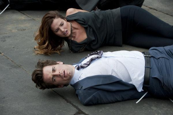 Matt Bomer and Gloria Votsis in White Collar (2009)