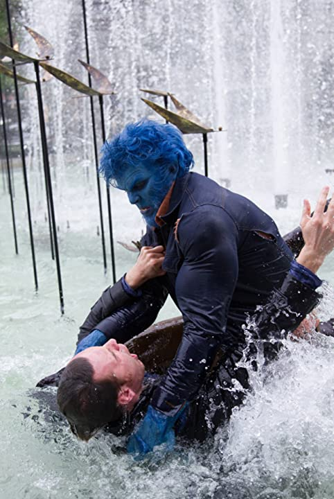 Nicholas Hoult and Michael Fassbender in X-Men: Days of Future Past (2014)
