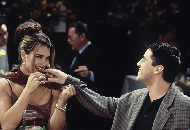 Brooke Shields and Matt LeBlanc in Friends (1994)