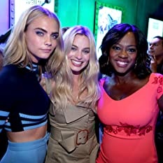 Adam Beach, Viola Davis, Margot Robbie, Cara Delevingne, and Karen Fukuhara at an event for Suicide Squad (2016)