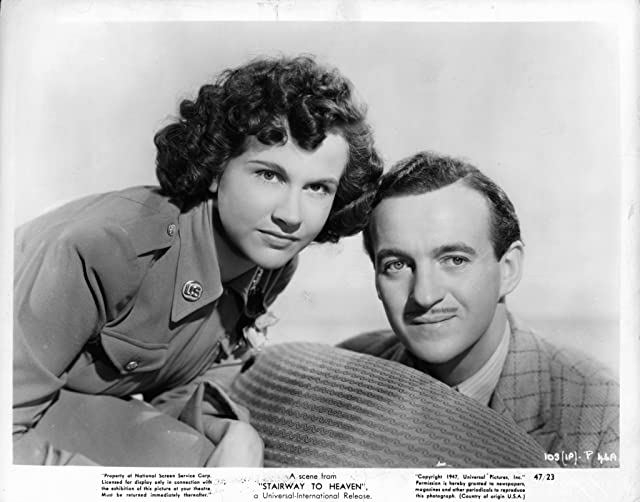 David Niven and Kim Hunter at Stairway to Heaven (1946)