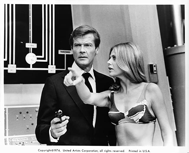 Roger Moore and Britt Ekland in The Man with the Golden Gun (1974)