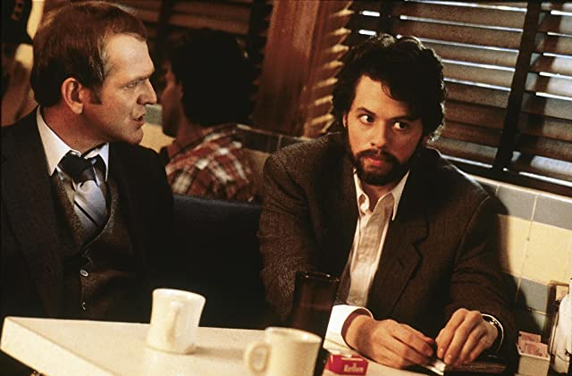 Jon Cryer and John Spencer in Hiding Out (1987)