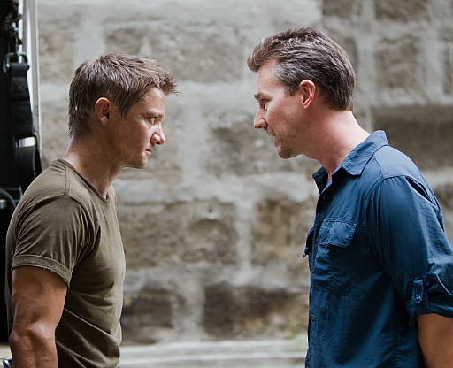 Edward Norton and Jeremy Renner in The Bourne Legacy (2012)