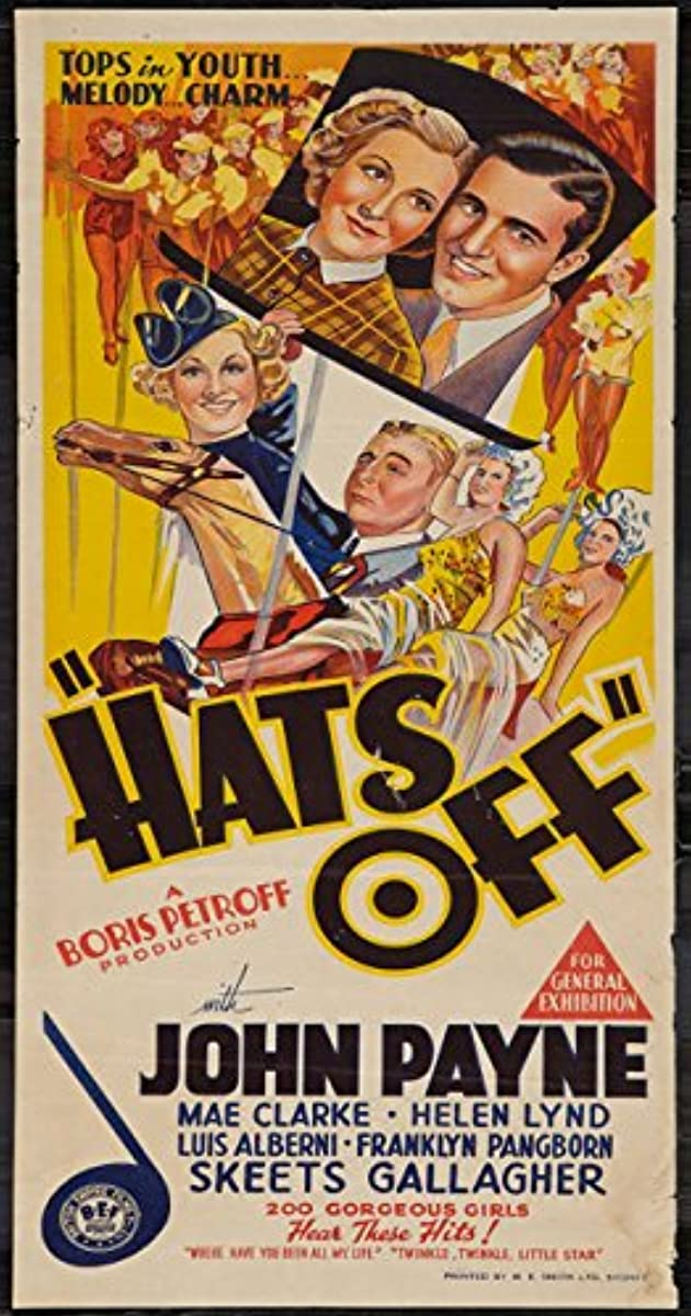 Image result for images of 1936 movie hats off