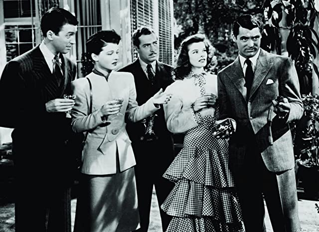 Cary Grant, Katharine Hepburn, James Stewart, John Howard, and Ruth Hussey in The Philadelphia Story (1940)