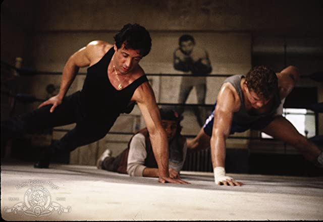 Sylvester Stallone and Tommy Morrison in Rocky V (1990)