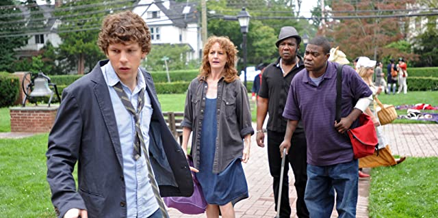 Jesse Eisenberg, Melissa Leo, Tracy Morgan, and Isiah Whitlock Jr. in Why Stop Now? (2012)
