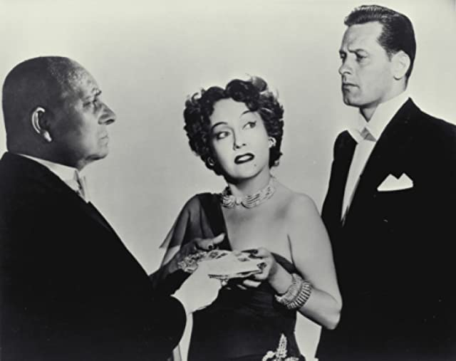 William Holden, Erich von Stroheim, and Gloria Swanson in Sunset Blvd. (1950)