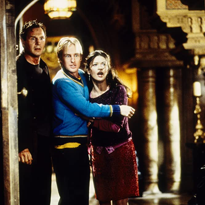 Liam Neeson, Catherine Zeta-Jones, and Owen Wilson in The Haunting (1999)