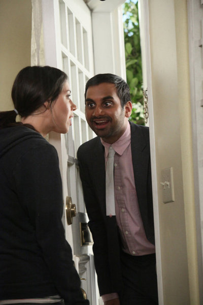 Aziz Ansari and Aubrey Plaza in Parks and Recreation (2009)