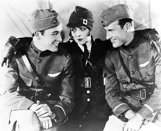 Clara Bow, Richard Arlen, and Charles 'Buddy' Rogers in Wings (1927)