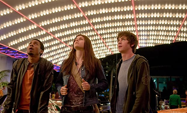 Logan Lerman, Brandon T. Jackson, and Alexandra Daddario in Percy Jackson & the Olympians: The Lightning Thief (2010)