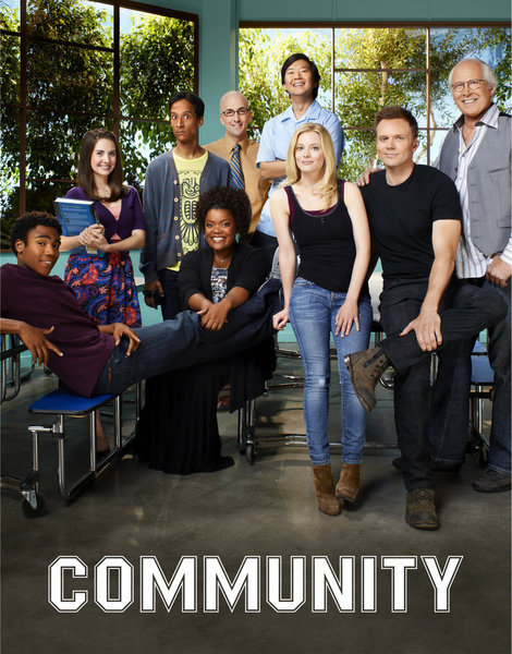 Chevy Chase, Ken Jeong, Joel McHale, Yvette Nicole Brown, Alison Brie, Gillian Jacobs, Danny Pudi, and Donald Glover in Community (2009)