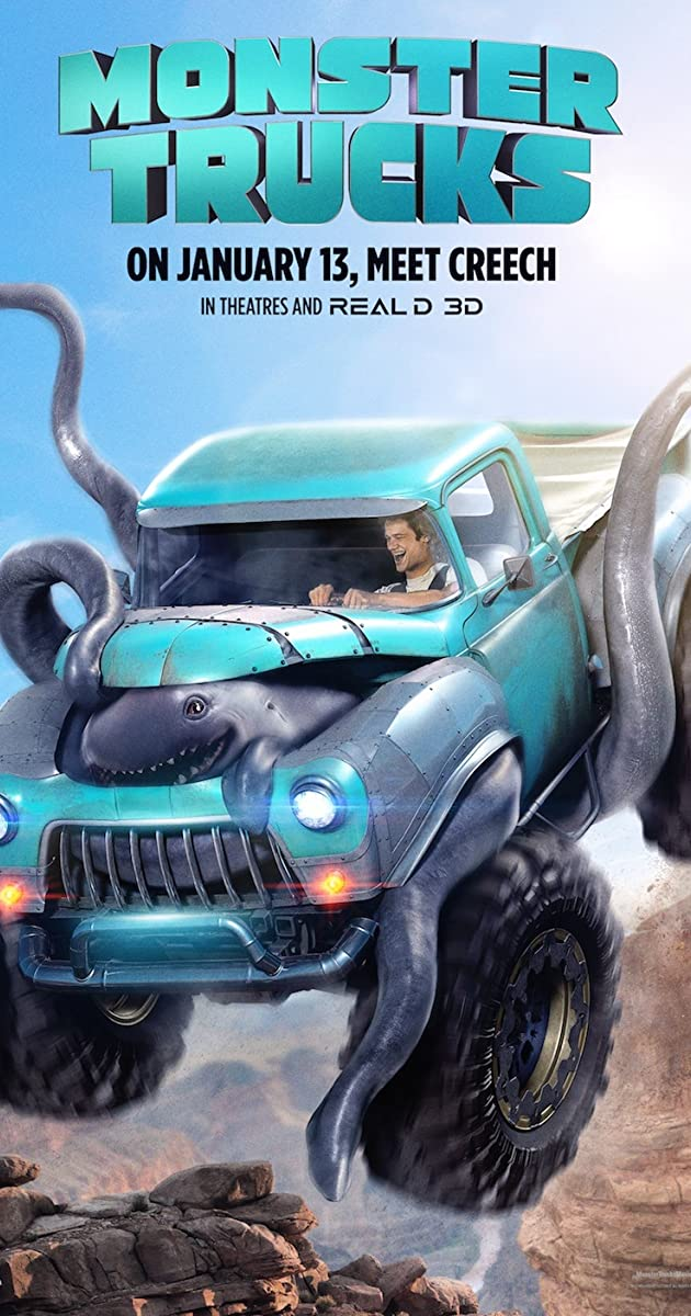 Monstru ratai / Monster Trucks (2016)