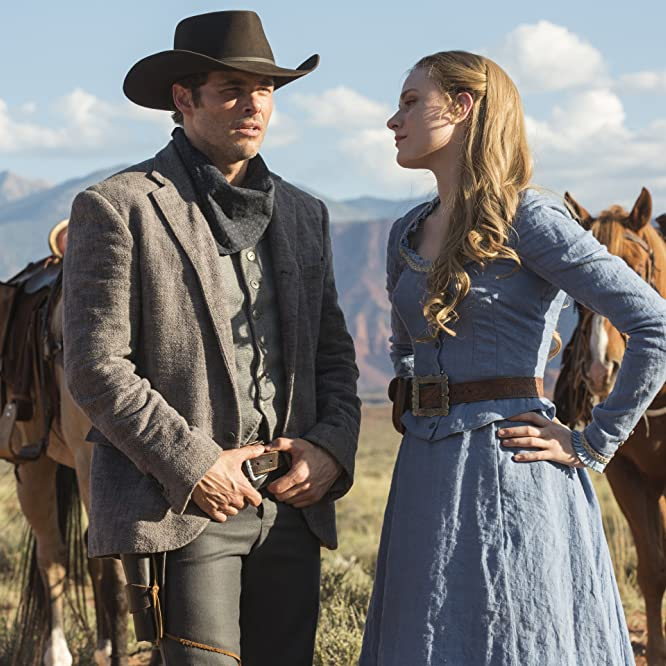 James Marsden and Evan Rachel Wood in Westworld (2016)
