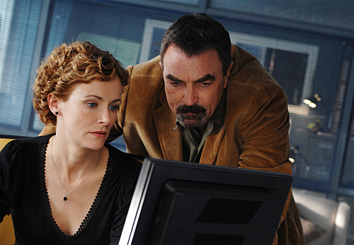 Tom Selleck and Leslie Hope in Jesse Stone: Thin Ice (2009)