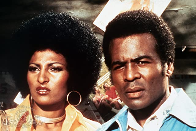 Pam Grier and Terry Carter in Foxy Brown (1974)