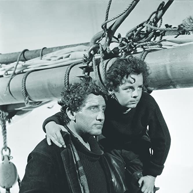 Spencer Tracy and Freddie Bartholomew in Captains Courageous (1937)