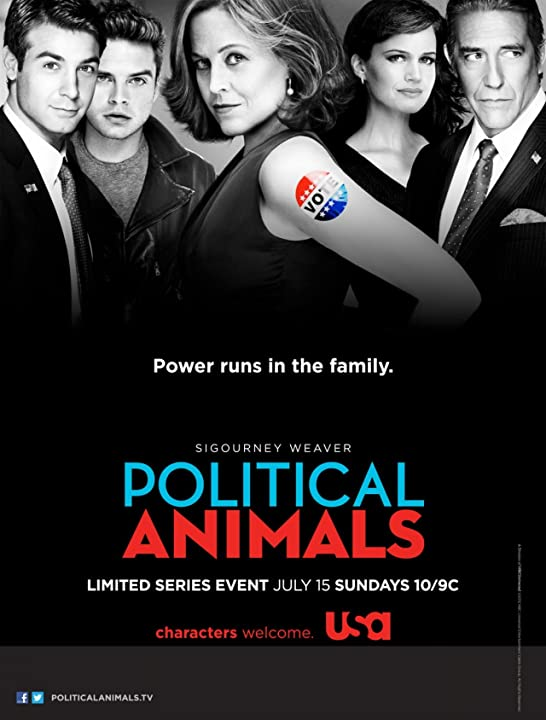 Sigourney Weaver, Carla Gugino, Ciarán Hinds, Sebastian Stan, and James Wolk in Political Animals (2012)