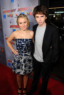 Kristen Bell and Freddie Highmore at an event for Astro Boy (2009)
