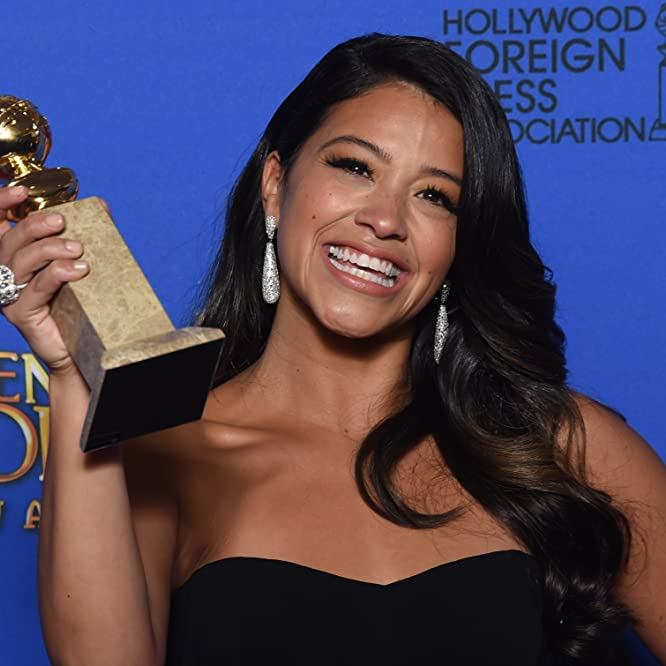 Gina Rodriguez at an event for 72nd Golden Globe Awards (2015)