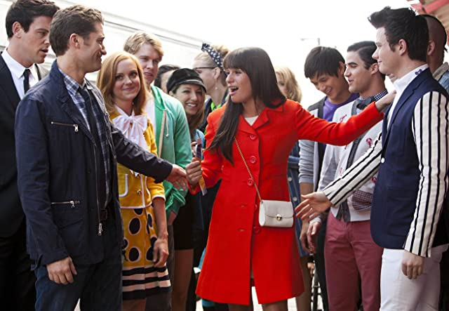 Vanessa Lengies, Lea Michele, Cory Monteith, Jayma Mays, Dianna Agron, Darren Criss, Chris Colfer, and Chord Overstreet in Glee (2009)