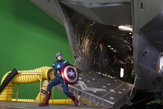 Chris Evans and Scarlett Johansson in The Avengers (2012)