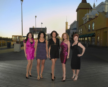 Caroline Manzo, Dina Manzo, Jacqueline Laurita, and Teresa Giudice in The Real Housewives of New Jersey (2009)