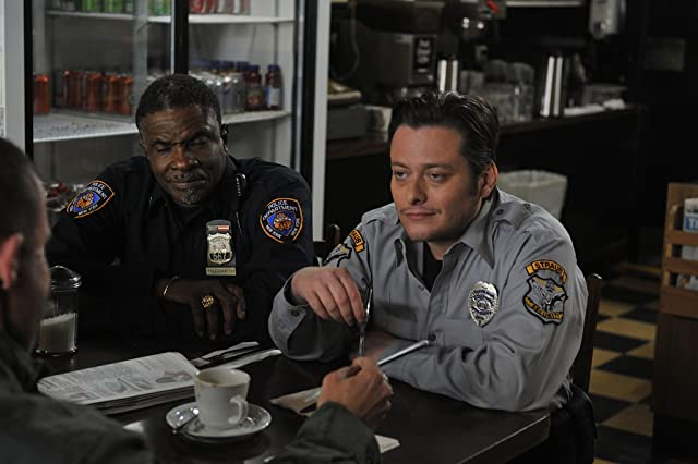Edward Furlong and Keith David in Assault on Wall Street (2013)