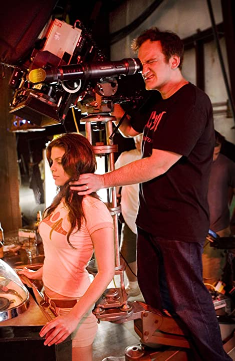 Quentin Tarantino and Vanessa Ferlito in Grindhouse (2007)