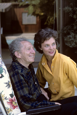 Sam Jaffe at home with his wife Bettye Ackerman