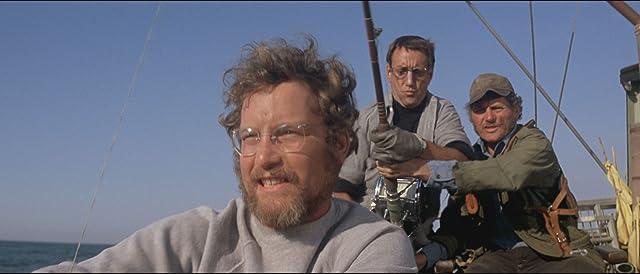 Richard Dreyfuss, Roy Scheider, and Robert Shaw in Jaws (1975)
