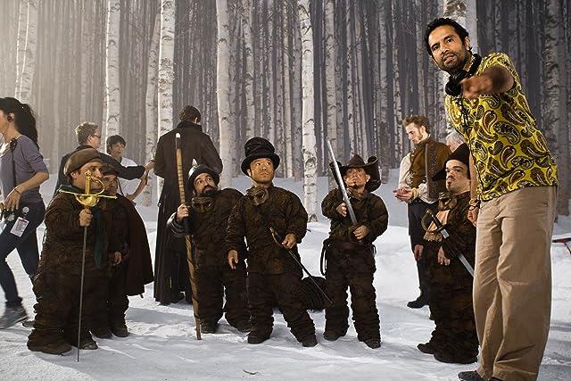 Martin Klebba, Mark Povinelli, Jordan Prentice, Tarsem Singh, Danny Woodburn, and Ronald Lee Clark in Mirror Mirror (2012)