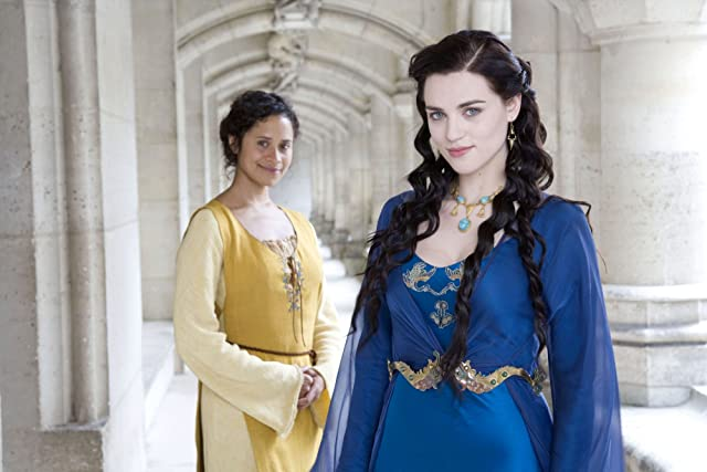 Angel Coulby and Katie McGrath in Merlin (2008)
