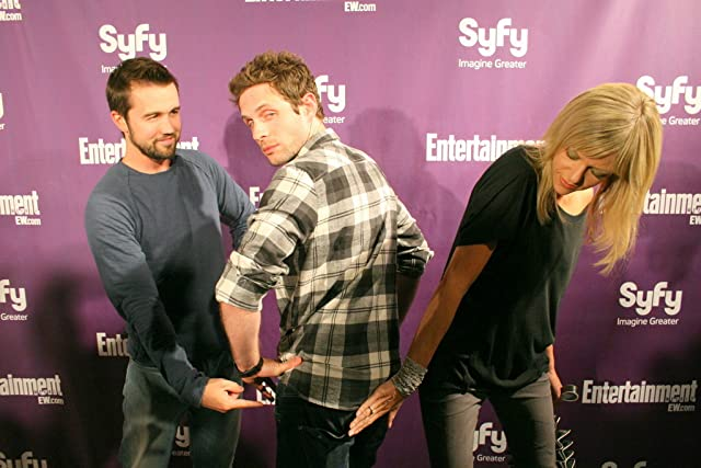 Rob McElhenney, Glenn Howerton and Kaitlin Olson