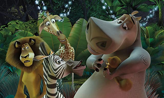 Jada Pinkett Smith, Chris Rock, David Schwimmer, Ben Stiller, William Ash, and Andy Richter in Madagascar (2005)