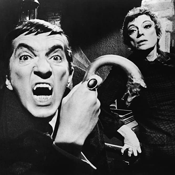Jonathan Frid and Grayson Hall in Dark Shadows (1966)