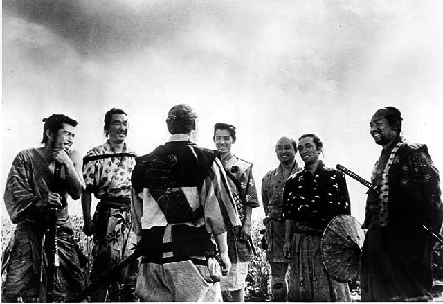 Toshirô Mifune, Minoru Chiaki, Yoshio Inaba, Daisuke Katô, Isao Kimura, Seiji Miyaguchi, and Takashi Shimura in Seven Samurai (1954)