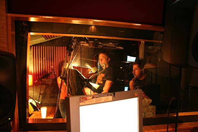 Trail of Crumbs post production sound session in Los Angeles: Robert McAtee speaks to Jeff Swarthout (Woody Truman) and Molly Leland (Wendy) before the recording of a phone conversation between their characters.