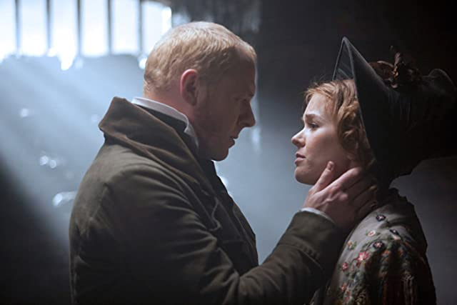 Isla Fisher and Simon Pegg in Burke and Hare (2010)