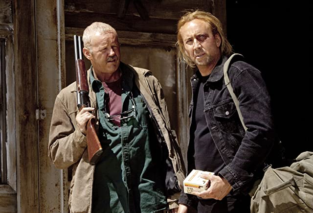 Nicolas Cage and David Morse in Drive Angry (2011)