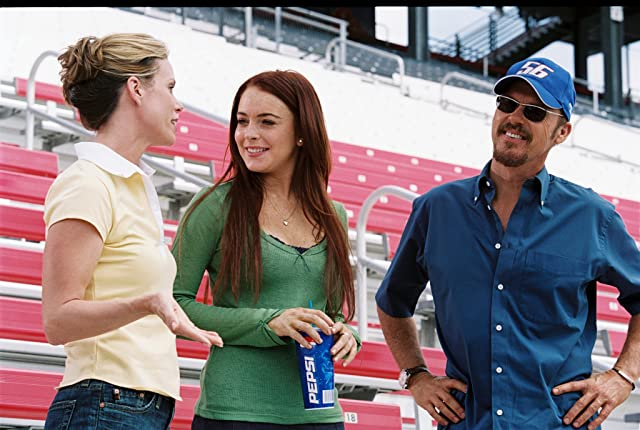 Michael Keaton, Cheryl Hines, and Lindsay Lohan in Herbie Fully Loaded (2005)