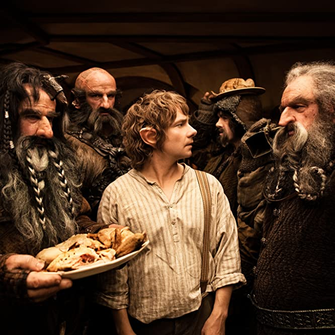 John Callen, Martin Freeman, William Kircher, Graham McTavish, and James Nesbitt in The Hobbit: An Unexpected Journey (2012)