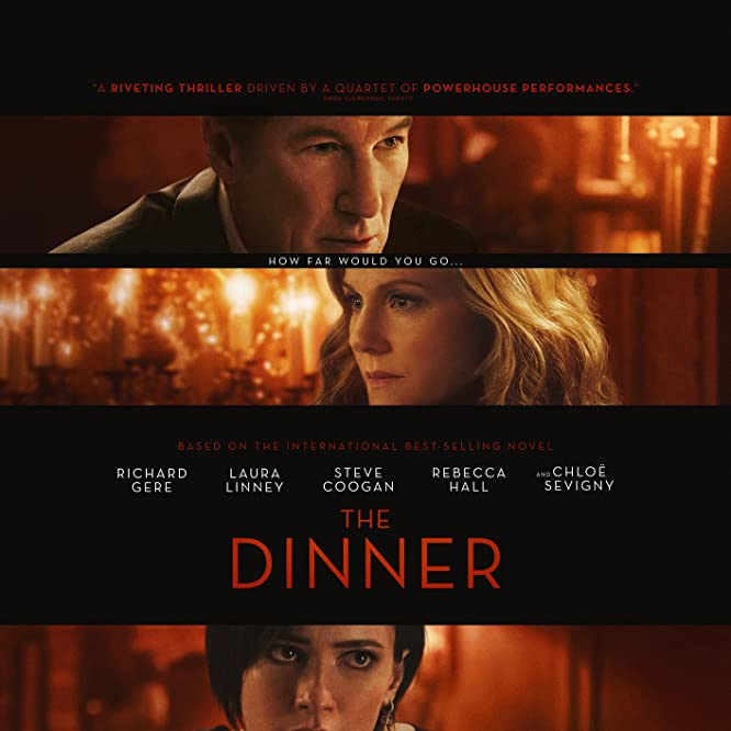 Richard Gere, Laura Linney, and Rebecca Hall in The Dinner (2017)