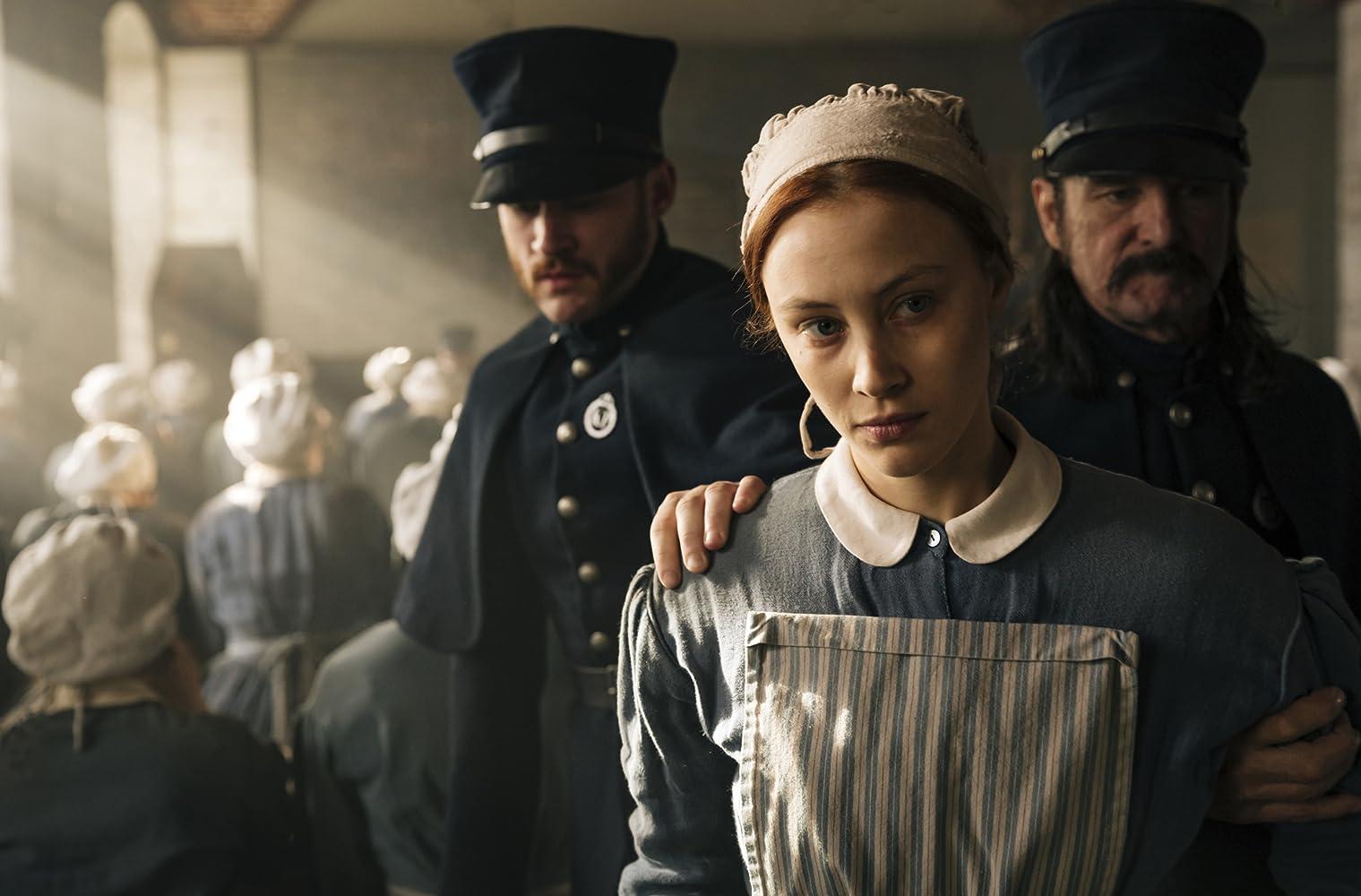 Sarah Gadon and Jonathan Koensgen in Alias Grace (2017)